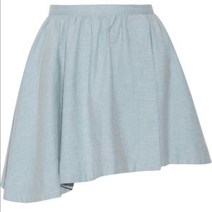 IRO Blue Cotton Skirt